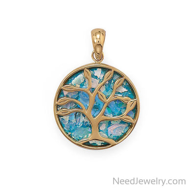 Item # [sku} - Growth and Renewal Tree of Life Roman Glass Pendant on NeedJewelry.com