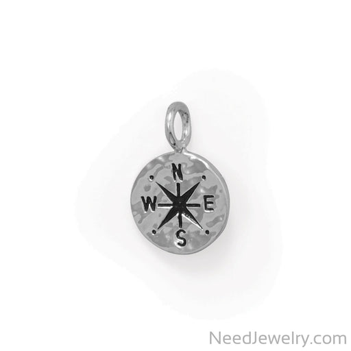 Item # [sku} - Keep It Moving! Hammered Compass Pendant on NeedJewelry.com