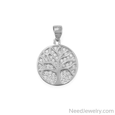 "Item # [sku} - ""Fresh Start"" CZ Tree of Life Pendant on NeedJewelry.com"