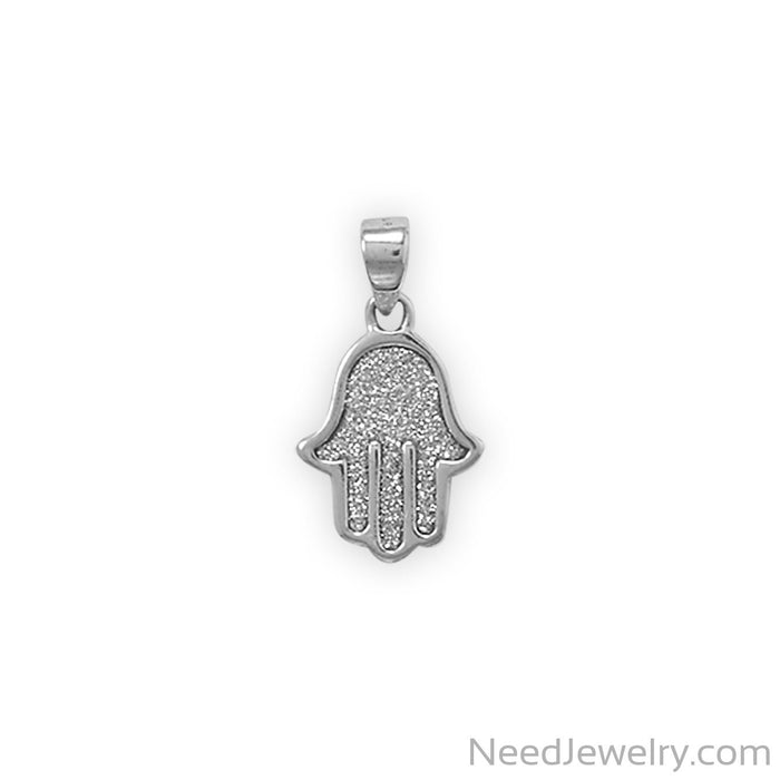 Item # [sku} - Glitter Hamsa Pendant on NeedJewelry.com