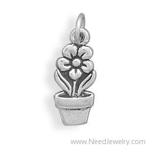 Flower Pot Charm-Charms-Needjewelry.com