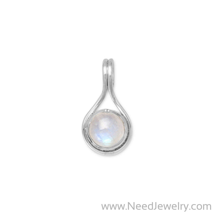 Round Moonstone Slide-Pendants-Needjewelry.com