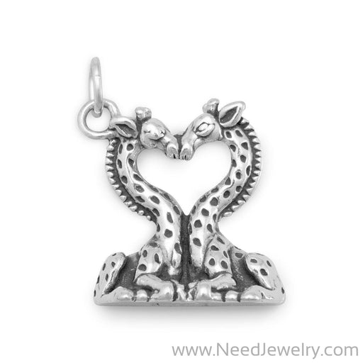 Heart Shaped Giraffes Charm-Charms-Needjewelry.com