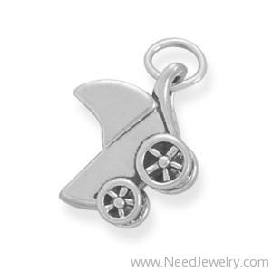 Small Baby Carriage Charm-Charms-Needjewelry.com