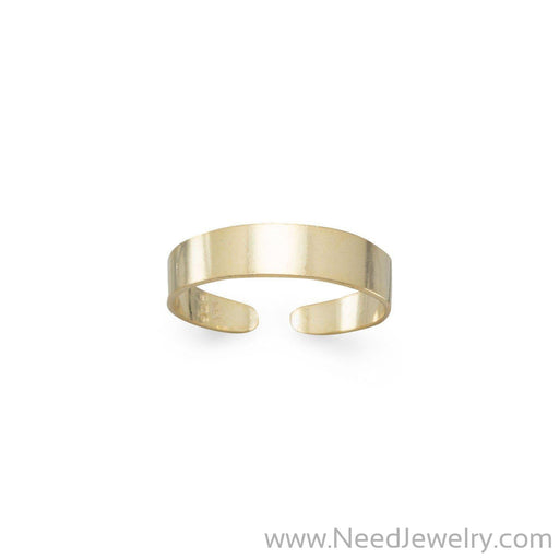 14 Karat Gold Plated Toe Ring-Body jewelry-Needjewelry.com