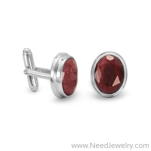 Corundum Cuff Links-Pendants-Needjewelry.com