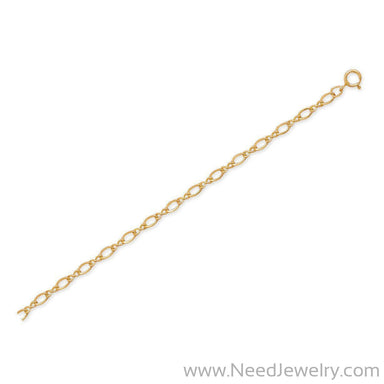 "9""+1"" 14/20 Gold Filled Figure 8 Chain Anklet-Chains-Needjewelry.com"