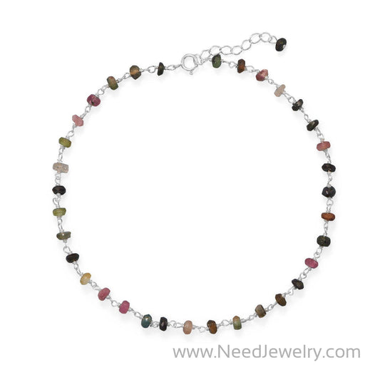 Colorful! Multi-Color Tourmaline Anklet-Bodyjewelry-Needjewelry.com