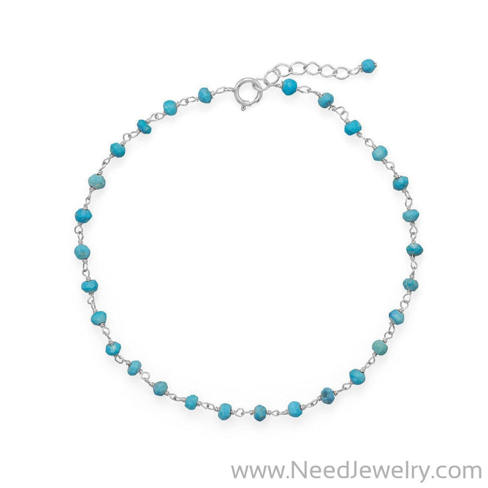 Blue Sea! Turquoise Anklet-Bodyjewelry-Needjewelry.com