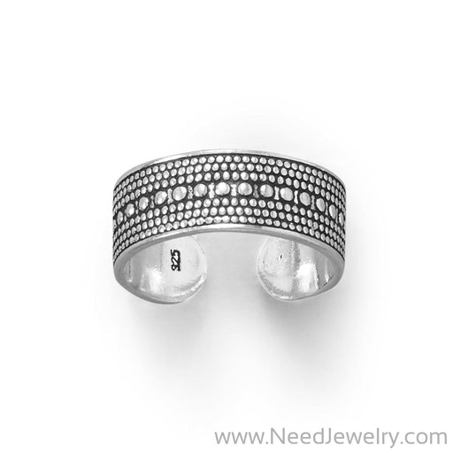 Oxidized Bead Design Toe Ring-Bodyjewelry-Needjewelry.com
