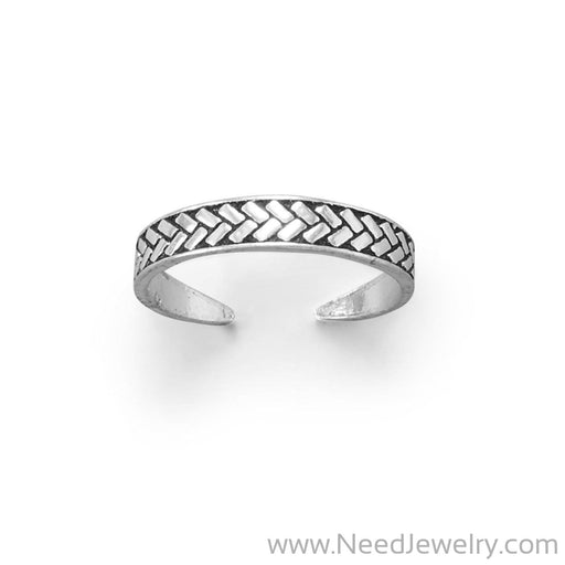 Wheat Design Oxidized Toe Ring-Bodyjewelry-Needjewelry.com