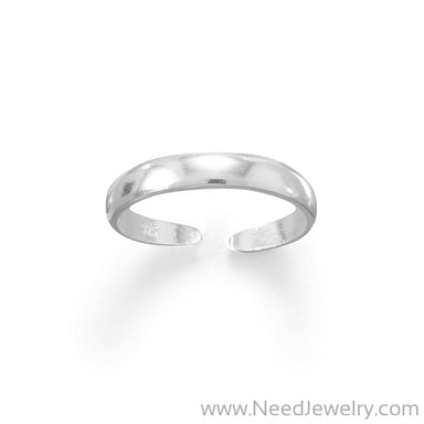 Thin 3mm Band Polished Toe Ring-Body jewelry-Needjewelry.com