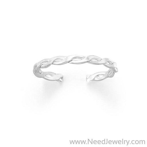 Thin Two Line Twist Toe Ring-Bodyjewelry-Needjewelry.com