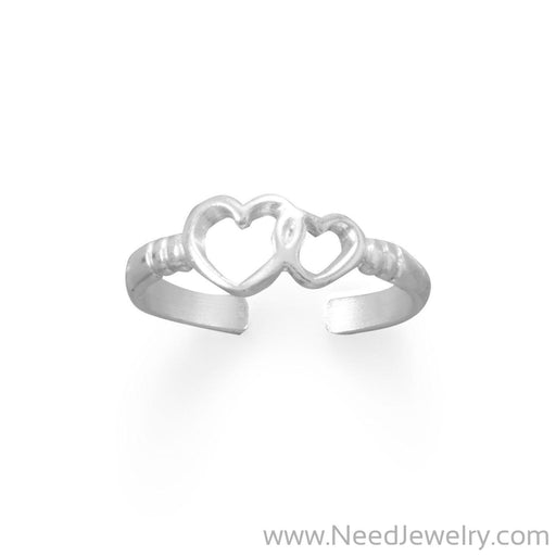 True Love Hearts Toe Ring-Bodyjewelry-Needjewelry.com