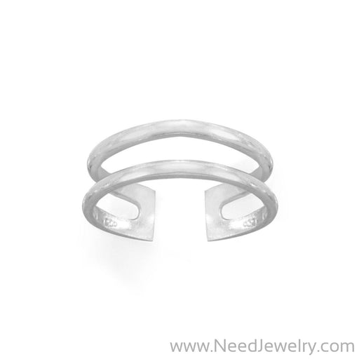 Polished Double Row Toe Ring-Bodyjewelry-Needjewelry.com