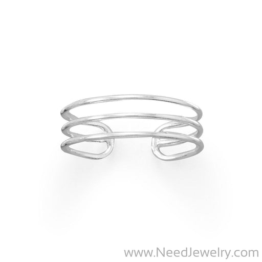 Polished Triple Row Toe Ring-Body jewelry-Needjewelry.com