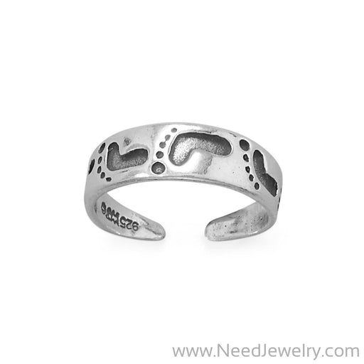 Footprints In The Sand Toe Ring-Bodyjewelry-Needjewelry.com