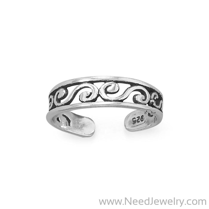 Swirly Twirly Toe Ring-Bodyjewelry-Needjewelry.com