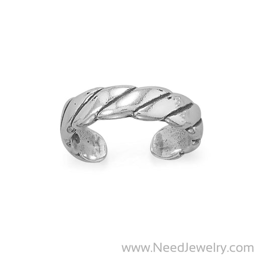 Wide Rope Toe Ring-Bodyjewelry-Needjewelry.com
