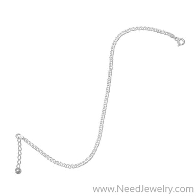 "9""+1"" Extension Rombo Chain Anklet-Body jewelry-Needjewelry.com"