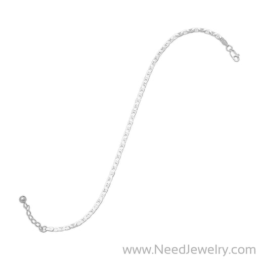 "9""+1"" Extension Flat Marina Anklet-Body jewelry-Needjewelry.com"