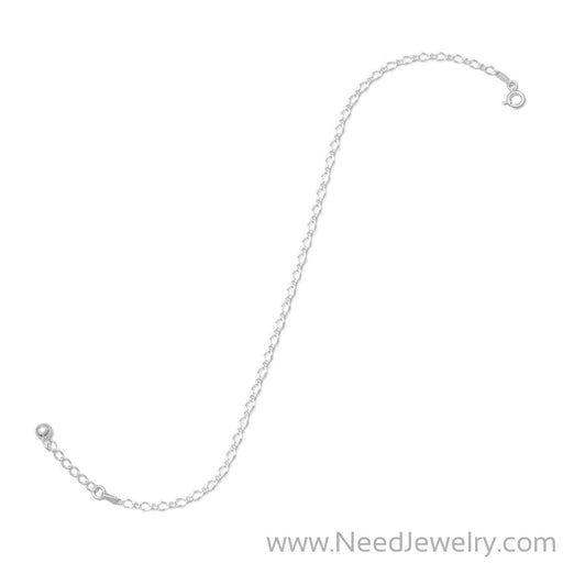 "9"" + 1"" Extension Rombo/Figaro Chain Anklet-Body jewelry-Needjewelry.com"