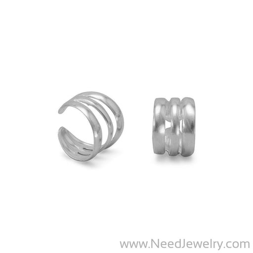 3 Row Polished Ear Cuffs-Earrings-Needjewelry.com