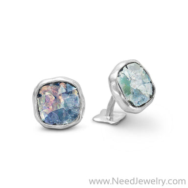 Ancient Roman Glass Cuff Links-Necklaces-Needjewelry.com