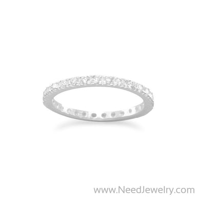 Clear CZ Eternity Band Ring-Rings-Needjewelry.com