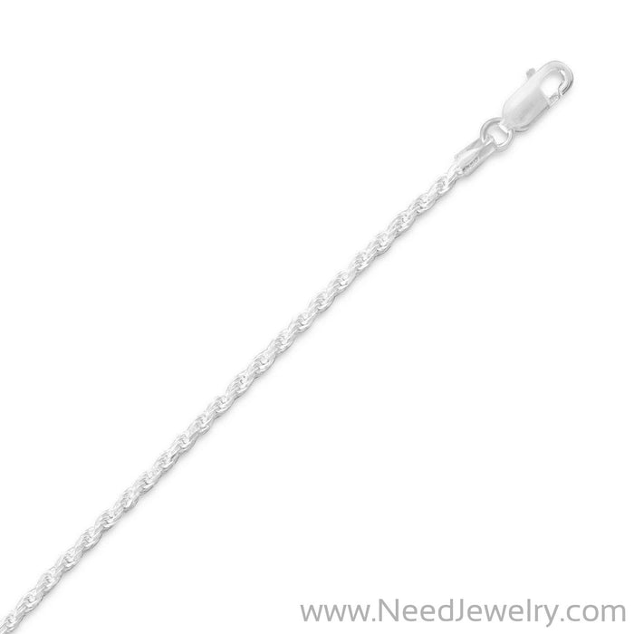 Diamond Cut Rope Chain (1.7mm)-Chains-Needjewelry.com