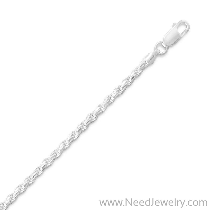 Diamond Cut Rope Chain (2.7mm)-Chains-Needjewelry.com
