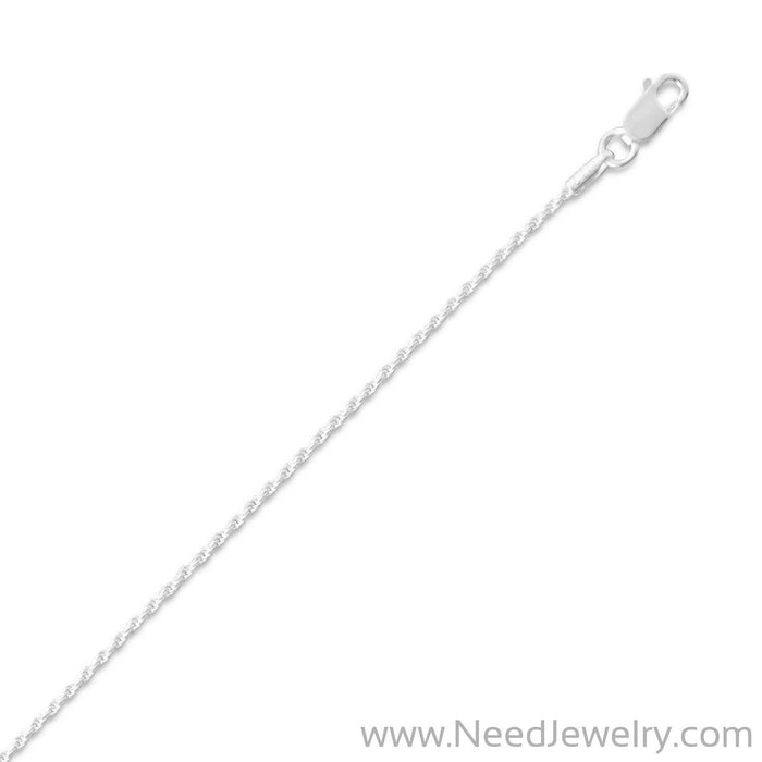 Diamond Cut Rope Chain Necklace (1mm)-Chains-Needjewelry.com