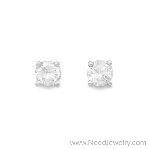 April Birthstone Stud Earrings-Earrings-Needjewelry.com