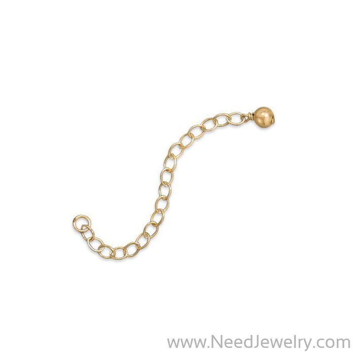 "2"" 14/20 Gold Filled Extender Chains with 4mm Bead End (Set of 2)-Bracelets-Needjewelry.com"