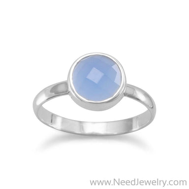 Faceted Chalcedony Stackable Ring-Rings-Needjewelry.com