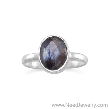 Faceted Labradorite Stackable Ring-Rings-Needjewelry.com