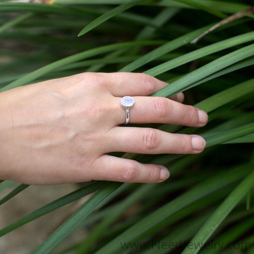 Faceted Moonstone Stackable Ring-Rings-Needjewelry.com