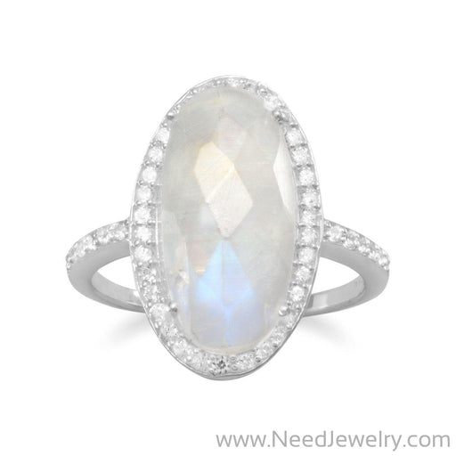 Gorgeous Rainbow Moonstone Ring-Rings-Needjewelry.com