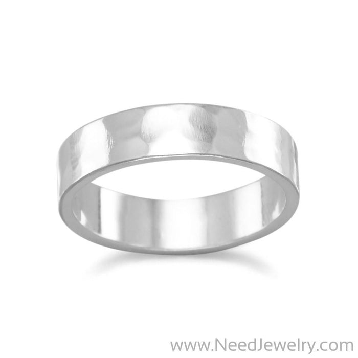 Hammered 5mm Band-Rings-Needjewelry.com