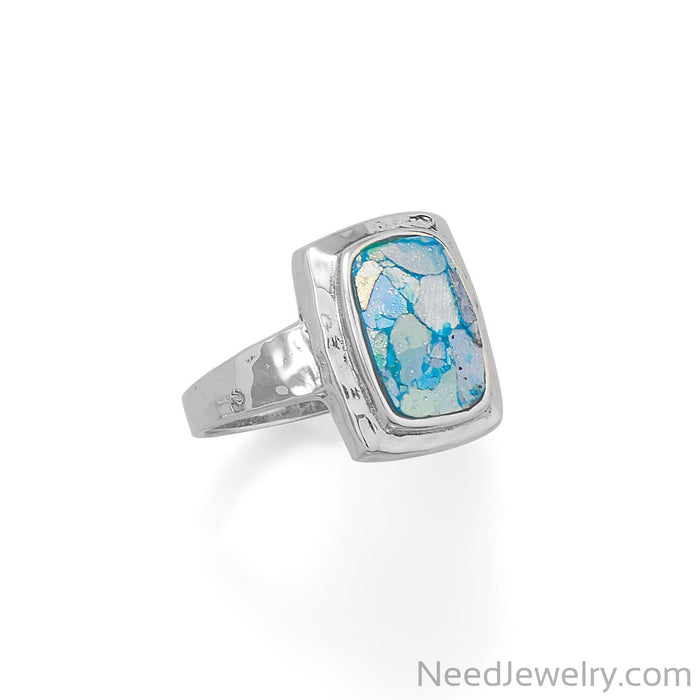 Item # [sku} - Hammered Roman Glass Ring on NeedJewelry.com