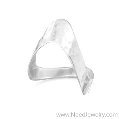 "Hammered ""V"" Ring-Rings-Needjewelry.com"