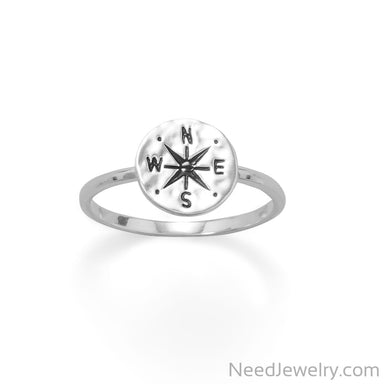 Item # [sku} - Keep It Moving! Hammered Compass Ring on NeedJewelry.com