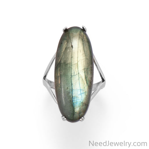 Item # [sku} - Large Oval Labrodorite Ring on NeedJewelry.com