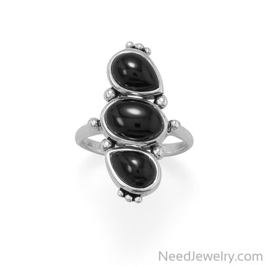 Item # [sku} - Multi Shape Black Onyx Ring on NeedJewelry.com