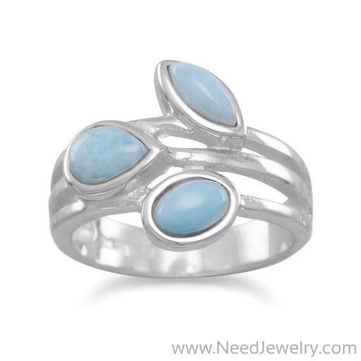 Multishape Larimar Ring-Rings-Needjewelry.com
