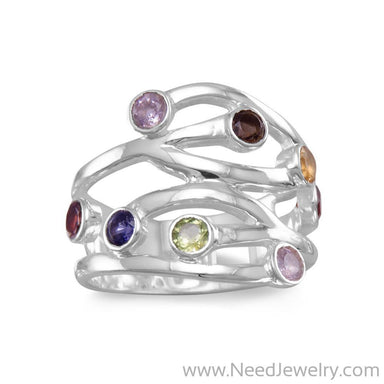 Multistone Open Design Ring-Rings-Needjewelry.com