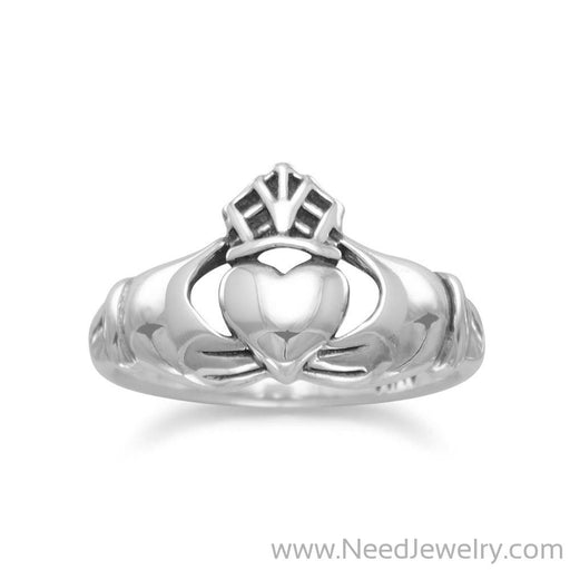 Oxidized Claddagh Ring-Rings-Needjewelry.com