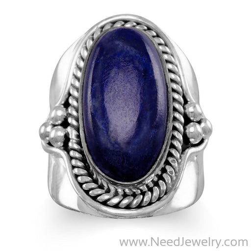 Oxidized Lapis Ring-Rings-Needjewelry.com