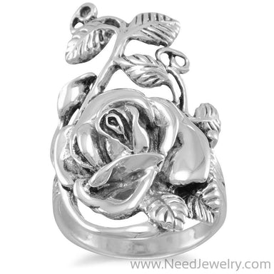 Oxidized Rose Ring-Rings-Needjewelry.com