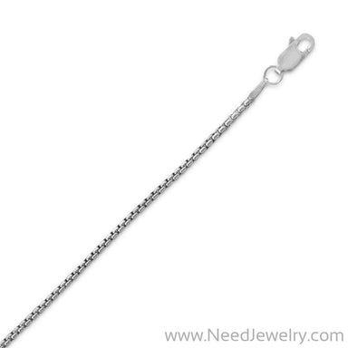 Oxidized Rounded Box Chain Necklace (1.6mm)-Chains-Needjewelry.com